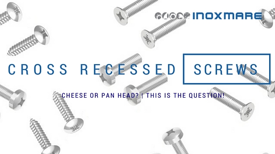 cross recessed screws