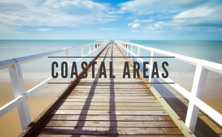 coastal areas