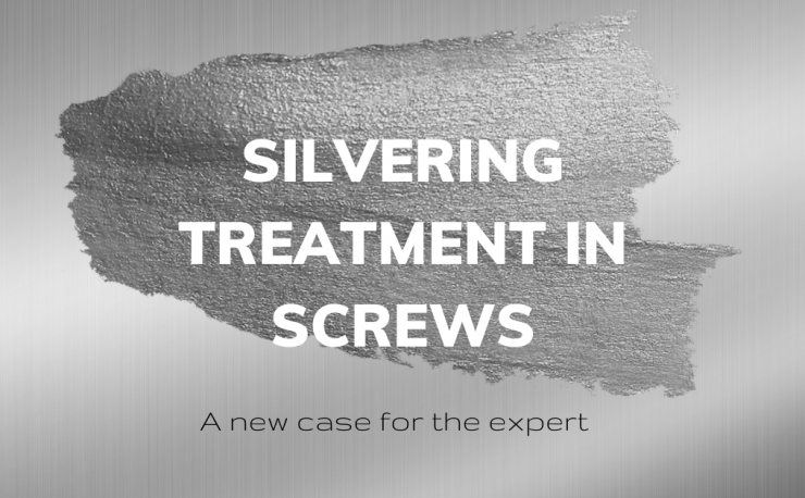 Silvering treatment in screws